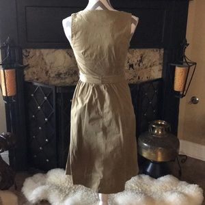 J. Crew Dresses - J Crew Khaki Safari Dress 0